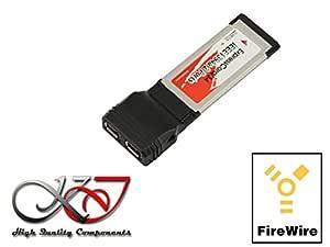 KALEA-INFORMATIQUE. Tarjeta controlador ExpressCard 34 Firewire 400 (IEEE1394 a) con Chipset TI xio2200. Compatible tarjeta sonido externa