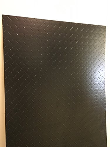 Painted Black Aluminum Diamond Plate Sheet - 24
