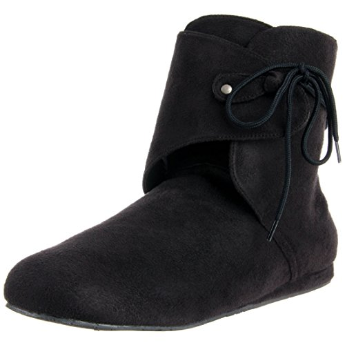Mens Renaissance Boots Theatre Costumes Shoe Black or Brown Booties MENS SIZING Size: Large Colors: (Mens Renaissance Boots)