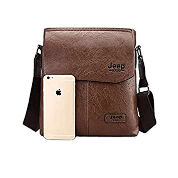 c0afc40e44 Jeep Unisex Leather Brown Shoulder Bag  Amazon.in  Bags