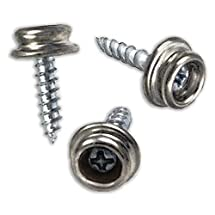 RamPro Set of 50 Snap Button Screw-In Studs Pack - All Phillips Heads