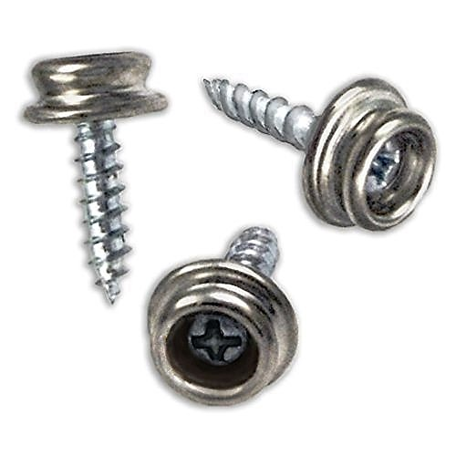 Screw Snap Fastener - RAM-PRO Set of 50 Snap Button Screw-In Studs Pack - All Phillips Heads