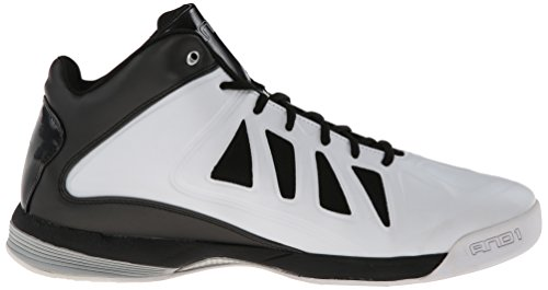 UND 1 Herren Backlash Mid Basketballschuh Weiß / Schwarz / Silber