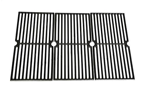 VICOOL HyG410C Cast Iron Grill Grates Replacement for Brinkmann 810-7490-F, 810-8410-S, 810-2410-S, 810-2511-S, 810-9415-W, Charmglow 810-8410-F, Browning, Grillada Grill Models, Set of 3