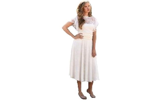 e193dd1f2 Factory Sposa Vestidos de Novia a Medida Traje de Boda para Mujer con Falda  de Encaje Vintage para Ceremonia Civil o Religiosa: Amazon.es: Ropa y  accesorios