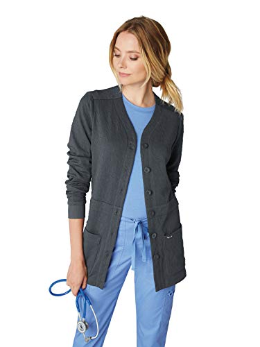 KOI 440 Women's Claire Knit Scrub Jacket Charcoal S