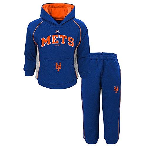 Outerstuff New York Mets MLB Majestic Lil Fan Team Color Hoodie & Pants Fleece Set Infant
