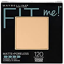 Maybelline New York Fit Me Matte + Poreless Powder Makeup, Classic Ivory, 0.29...