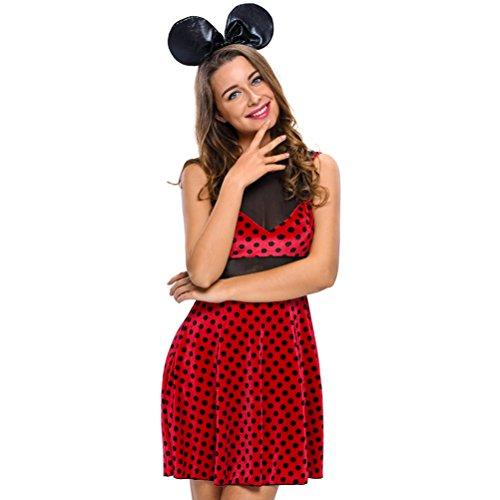 60s Babe Adult Costumes (BYY 2pcs Mistress Mouse Costume(Size,M))