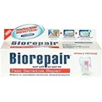 biorepair fast sensitive toothpaste 75ml (pack of two) repairs damaged tooth enamel and prevents plaque and tartar from forming - helping to prevent decay before it can start. by Biorepair
