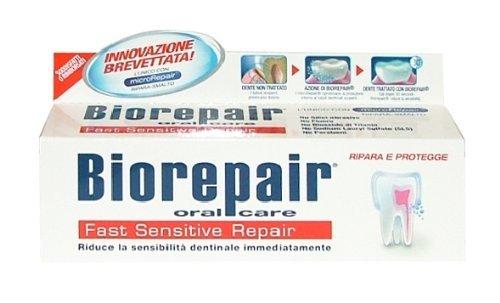 biorepair fast sensitive toothpaste 75ml (pack of two) repairs damaged...