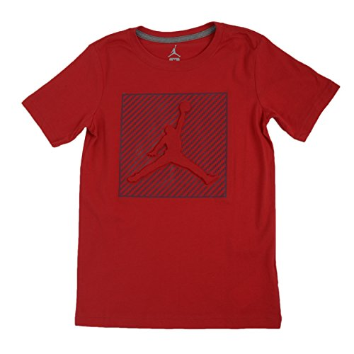 Jordan Big Boys' Graphic-Print Cotton Basketball T-Shirt (M(10-12YRS), Gym - T-shirt Nike Embossed