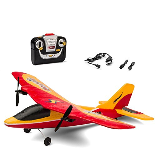 P28 2 Channel Outdoor Remote Control RC Airplane 2.4GHz ()