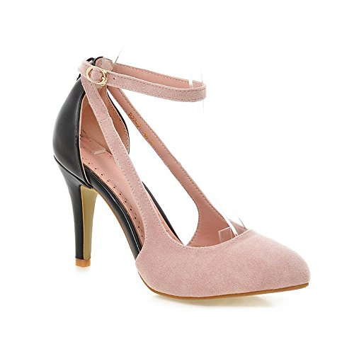 Eclimb Womens Classic Side Hollow Fashion Pointed Toe High Heel Dress Pumps Pink MAviY
