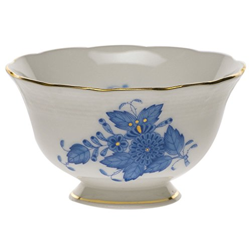 Blue Open Sugar Bowl - Herend Chinese Bouquet Blue Open Sugar Bowl