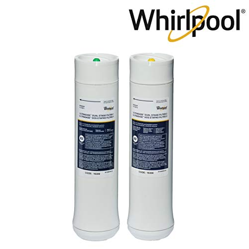 Dual Filter Drinking Water System - Whirlpool WHEEDF Dual Stage Replacement Pre/Post Water Filters | Fits WHADUS5 & WHED20 Filtration Systems | 1 Set
