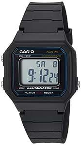 Casio Men's 'Classic' Quartz Resin Casual Watch, Color:Black (Model: W-217H-1AVCF)