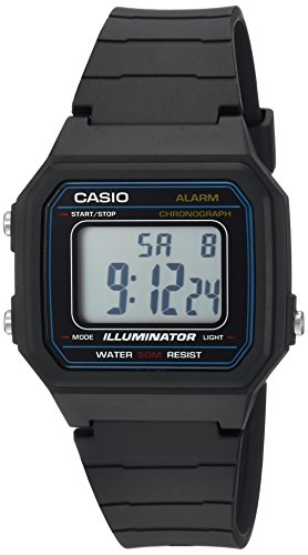 Casio Men's 'Classic' Quartz Resin Casual Watch, Color Black (Model: W-217H-1AVCF) - Mens Quartz Black Resin