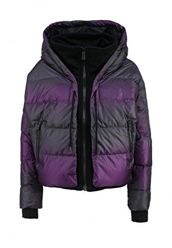 NIKE Womens UPTOWN 550 DOWN COCOON WOMENS JACKET (Small, Vivid Purple/Black/Black)