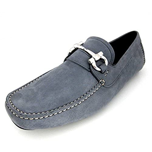 0e9f5a249f7 Salvatore Ferragamo Parigi mens grey suede dress shoes loafers made in  Italy outlet