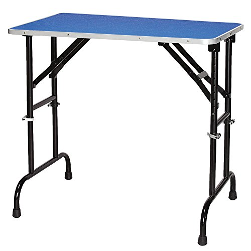 Master Equipment Adjustable Height Grooming Table for Pets, 36 by 24-Inch, Blue