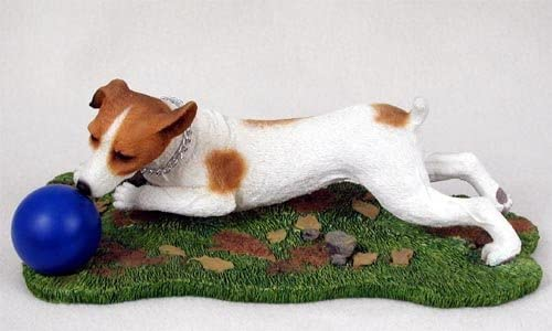 JACK RUSSELL SMOOTH Brown Dog ANGEL Ornament HAND PAINTED FIGURINE Christmas NEW