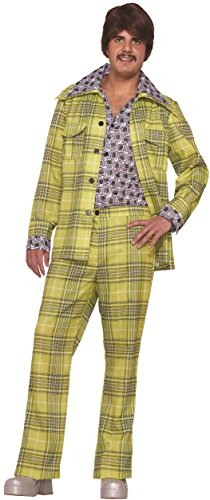 70's Leisure Suit Costume (Forum Novelties Men's Leisure Suit 70's Plaid Costume Groovy Retro Party Halloween One Size Fits Most Green)