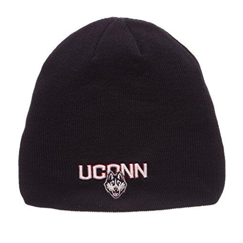 (Zephyr Men's Connecticut UCONN Huskies Edge Knit HAT Navy ADJ)