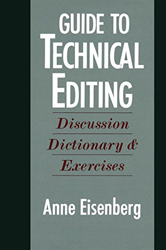 Guide to Technical Editing: Discussion, Dictionary, and Exercises