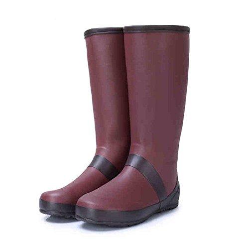 agua de Antideslizante Botas Red Zapatos Lluvia Lluvia Resistente al pesca Zapatos Moda w578axSn0w