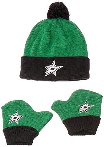 OTS NHL Dallas Stars Pow Knit Cap & Mittens Set, Kelly, Infant All Star Sports Clothes