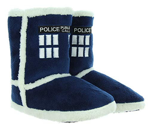 (Doctor Who TARDIS Slipper Boots (Small,)