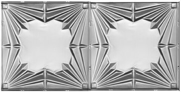 Art Deco Tin - 10 (2' x 4') sheets of Tin Ceilings #2407 80 sq.ft. 24