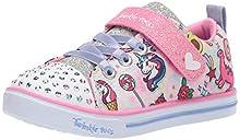 Skechers Kids Girls' Sparkle LITE-DREAMYLAND Sneaker, Light Pink/Multi, 8 Medium US Toddler
