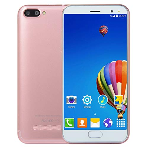 Unlocked 5.0 inch Dual HD Dual SIM Camera Smartphone Android 6.0 1G+4G Extended Memory 32G WiFi GPS Call Mobile Phone (Rose Gold) ()