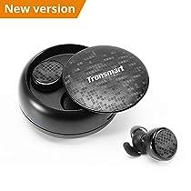 Cuffie Bluetooth Sport 5.0, Tronsmart Auricolari Bluetooth Senza Fili In-Ear Impermeabili IPX5 Stereo con Microfono Incorporato, Cancellazione del Rumore CVC 6.0, per iPhone, Samsung, Huawei ecc.