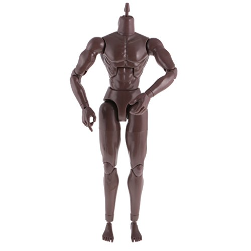 MagiDeal 1:6 Scale Black Action Figure Wide Shoulder Muscular with Neck Body for TTM18 TTM19 Hot Toys