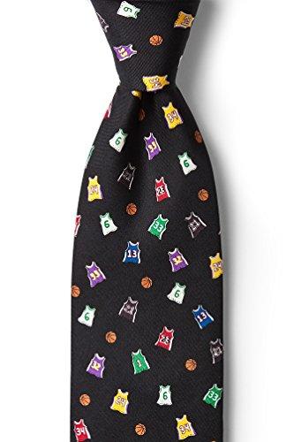 Basketball Legends Black Silk Tie (Basketball Mens Tie)