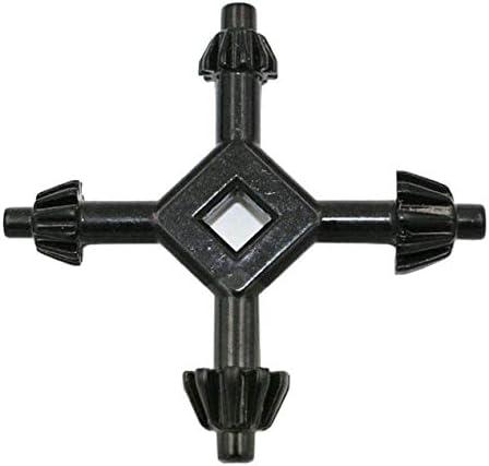 多機能の耐久性のある亜鉛合金材料ドリルチャックレンチ4 in 1ハンドドリルキー(ドリルチャックを締める-ブラック)