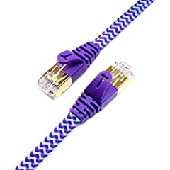 Tera Grand 10 Gigabit Ultra Flat Cat-7 Ethernet CablesSlim and FlexibleBeing only 0.07 inches thick, these cables fit easily in any cramped space. They will camouflage under carpets, up walls, and behind furniture. Our Ultra Flat CAT7 cables ...