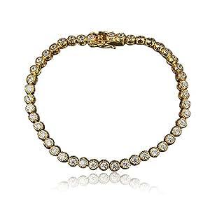 Fashion girl Luxurious lady Diamonds Swarovski Crystal Charm 18K gold Plated Bracelet