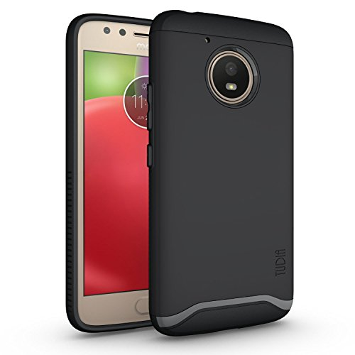 TUDIA Moto E (4th Generation) Case, Slim-Fit Heavy Duty [Merge] Extreme Protection/Rugged but Slim Dual Layer Case for Motorola Moto E4 (Matte Black)