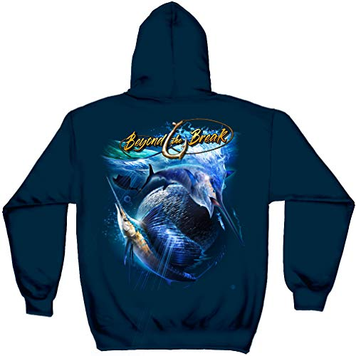 Fishing Tools | Sail Fish Off Shore Fishing Hooded Sweat BTB2392SWXL