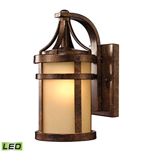 Winona Outdoor Pendant - Winona Collection 1 light outdoor sconce in Hazelnut Bronze - LED Offering Up To 800 Lumens (60 Watt Equivalent) With Full Range Dimming. Includes An Easily Replaceable LED Bulb (120V).