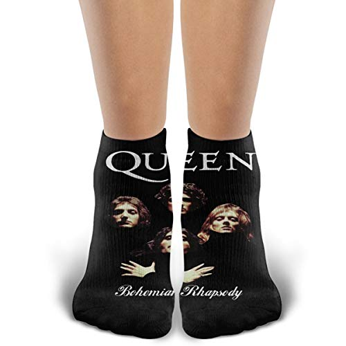 Crew Novelty Cotton Socks, Queen Band Bohemian Rhapsody, Running Cycling Athletic Casual Ankle Cozy Funny Socks
