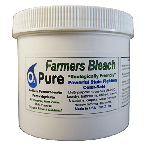 O3 PURE Color Safe FARMERS BLEACH Earth Friendly Oxi Boost Multi Purpose Non-Chlorine Oxygen Cleaner with Hydrogen Peroxide and Sodium Carbonate