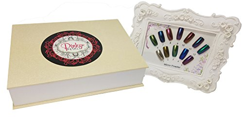 Pinky Petals Chrome Mirror Nail Powder Kit with 12 Colors, Applicators, and Color Chart (12, (Gwen Stefani Halloween)