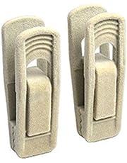 Sdkmah9 - Juego de 20 soportes de secado a prueba de viento para colgar toallas de terciopelo artificial, antideslizante, ecológica, duradera, color negro