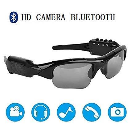 9f2e0b150a2 1080P HD Hidden Sport Bluetooth Sunglasses Spy Camera Video Recorder  Sunglasses with Bluetooth Headphone and Handsfree