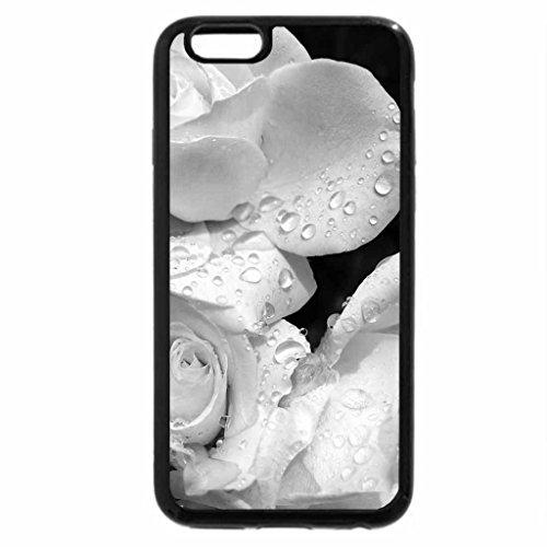 iPhone 6S Plus Case, iPhone 6 Plus Case (Black & White) - Bejeweled Roses
